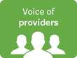 Voice of providers